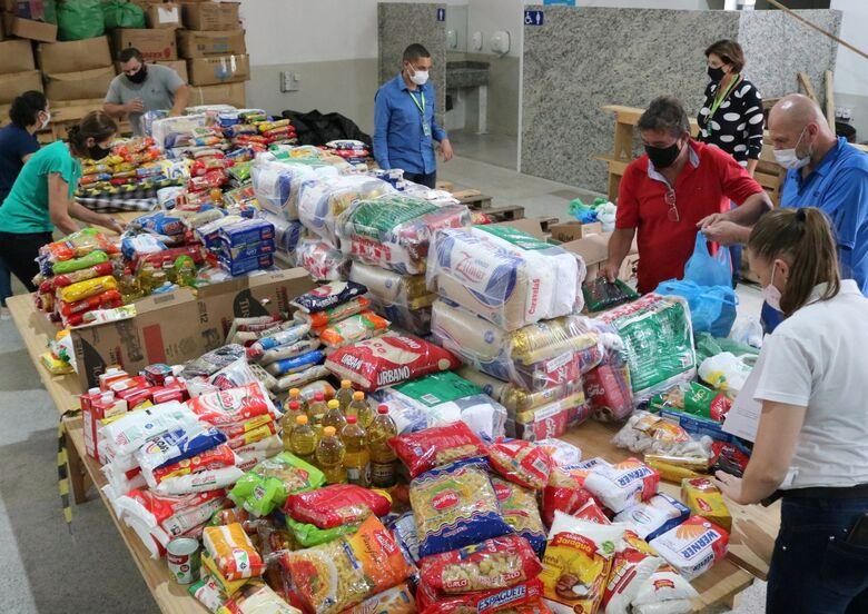 Entidades de Jaraguá recebem mais de 840 quilos alimentos através da campanha VacinAção Solidária  - Crédito: Arquivo / Divulgação
