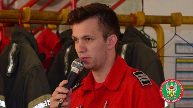 Comunidade lamenta a morte do comandante dos Bombeiros de Schroeder - Crédito: Divulgação Bombeiros