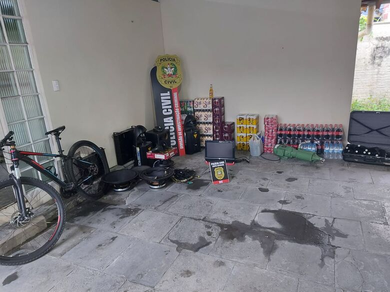 DIC prende autor de furtos em série que totalizam R$ 30 mil em Jaraguá do Sul   - Crédito: Divulgação/DIC