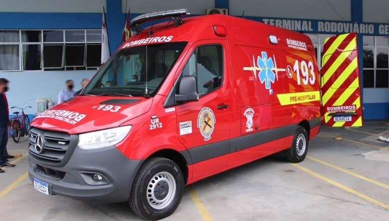 Ciclista fica ferido em acidente em Massaranduba   - Crédito: Divulgação