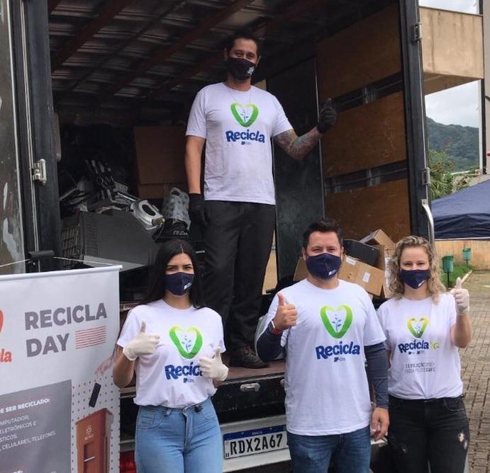 Recicla Day CDL recolhe duas toneladas de lixo eletrônico - Crédito: Divulgação