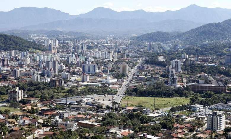 Projeto de lei define limites de bairros em Jaraguá do Sul  - Crédito: Reprodução Google
