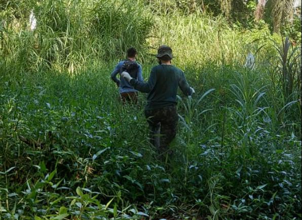 Equipe técnica faz mapeamento das nascentes em Jaraguá  - Crédito: Divulgação