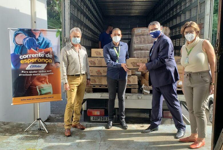 Jaraguá do Sul recebeu seis toneladas de alimentos do Condor   - Crédito: Divulgação