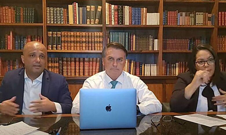 """Ida para novo partido está """"bastante avançada"""", diz Bolsonaro - Crédito: Reprodução Youtube  / Jair Bolsonaro"""