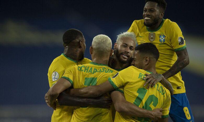 Brasil goleia seleção peruana e segue 100% na Copa América - Crédito: Lucas Figueiredo - CBF