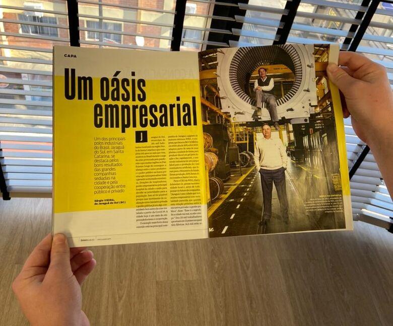 Isto é Dinheiro destaca Jaraguá do Sul como modelo para o Brasil - Crédito: Divulgação