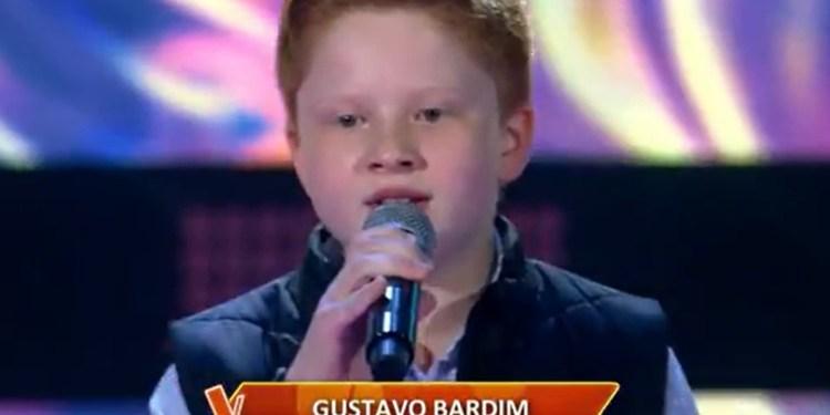 [Vídeo] Gustavo Bardim, de Guaramirim, se apresenta no The Voice Kids, da TV Globo - Crédito: Divulgação