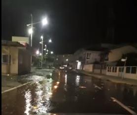 [VÍDEO] Mar invade avenida em Barra Velha  - Crédito: Divulgação Redes Sociais