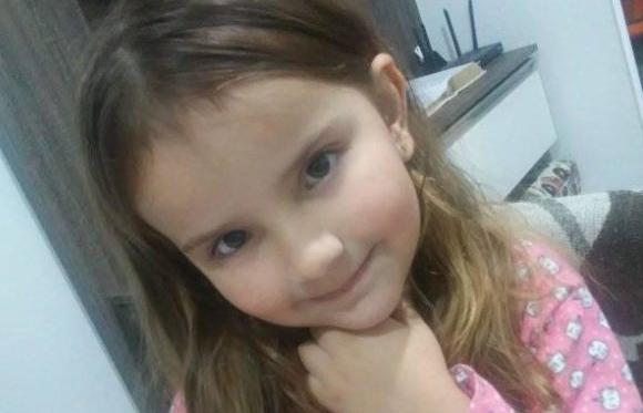 Luto: Menina Evilyn, de 5 anos, será velada em Guaramirim  - Crédito: Divulgação/Redes Sociais