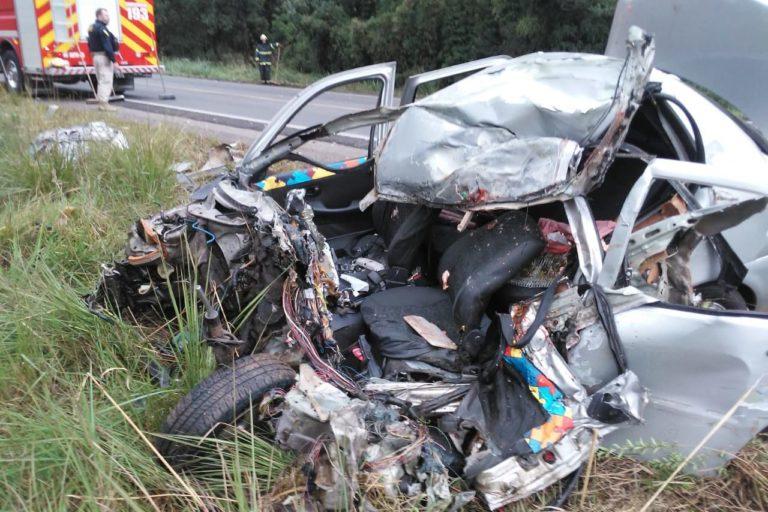 Motorista morre em grave acidente na BR-470, em SC  - Crédito: Foto Divulgação/Redes Sociais