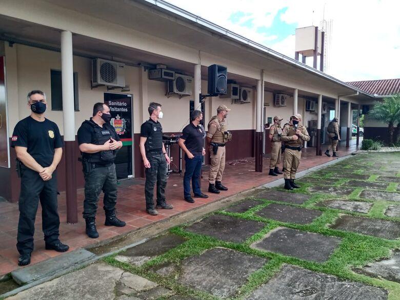 Polícias Militar e Civil realizam Operação Cerco em Guaramirim  - Crédito: Foto Gabriel Junior/Jaraguá FM