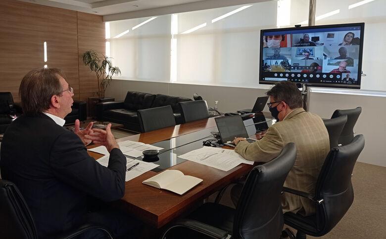 Reunião virtual foi realizada nesta segunda-feira (14)  - Crédito: Divulgação