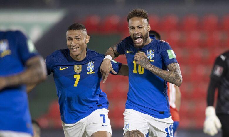 Brasil quebra tabu de 35 anos e vence Paraguai pelas Eliminatórias - Crédito: Lucas Figueiredo - CBF