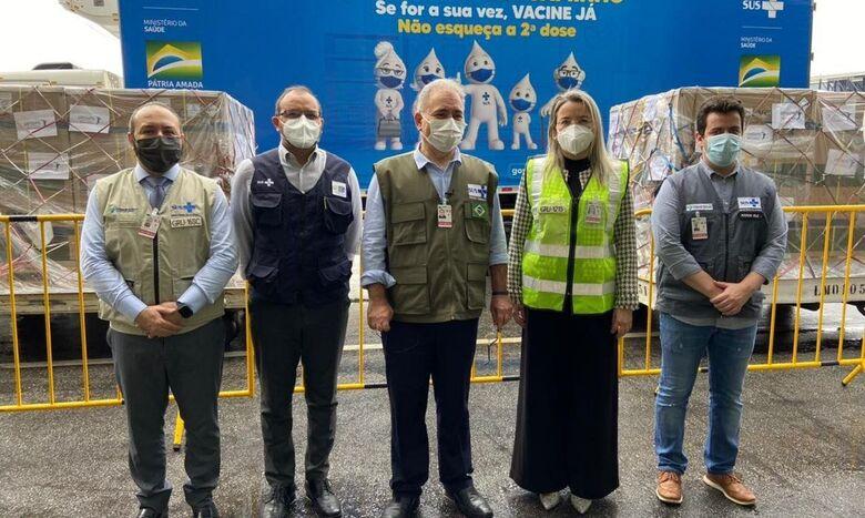 Lote de 1,5 milhão de doses da vacina da Janssen chega ao Brasil - Crédito: Ministério da Saúde