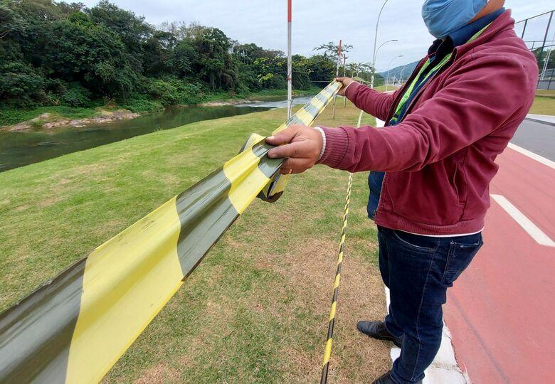 Para conter avanço da covid, áreas coletivas dos parques são interditadas em Jaraguá - Crédito: Divulgação