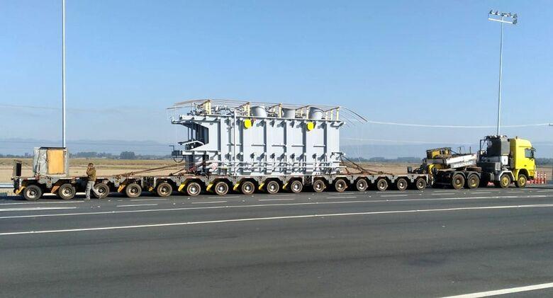 Transporte de transformador causará lentidão na BR 101 - Crédito: Divulgação