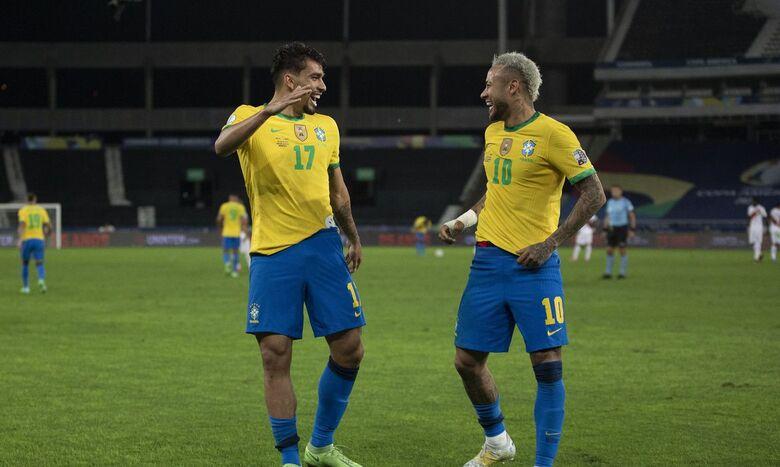 Brasil vence Peru e está na final da Copa América - Crédito: Lucas Figueiredo - CBF
