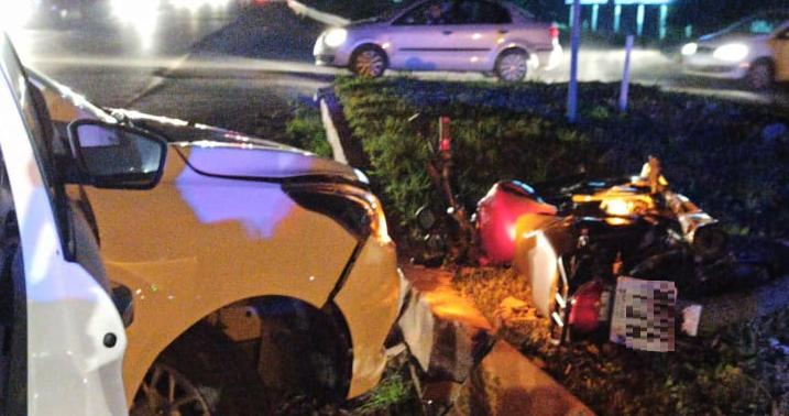 Acidente deixa jovem ferido na BR-280, em Guaramirim  -