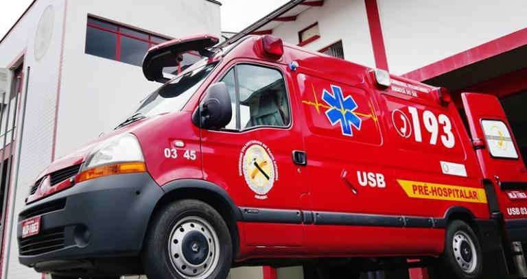 Acidente deixa motociclista ferido naEpitácio Pessoa, em Jaraguá - Crédito: Divulgação