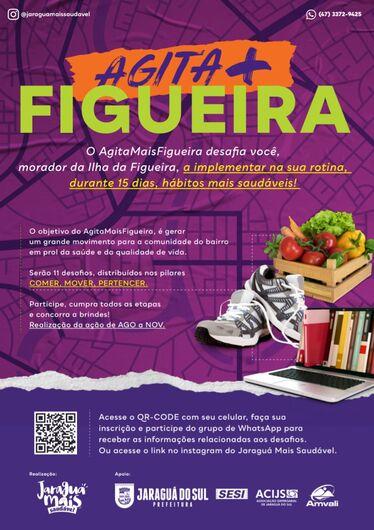 Ilha da Figueira é desafiada pelo Programa Jaraguá Mais Saudável - Crédito: Arquivo / Divulgação