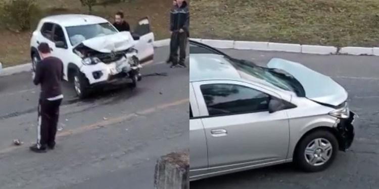 Acidente entre carros deixa dois feridos em Jaraguá do Sul -