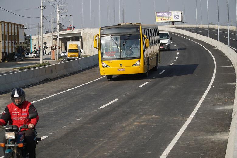 Liberado o trânsito no viaduto da BR 280, em Guaramirim  - Crédito: Divulgação