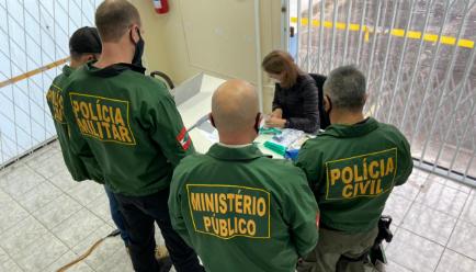 GAECO deflagra operação para combater facção criminosa em Joinville - Crédito: Divulgação