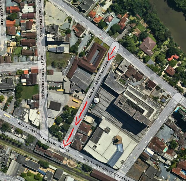 Rua Artur Müller terá sentido único a partir de segunda-feira - Crédito: Arquivo / Divulgação