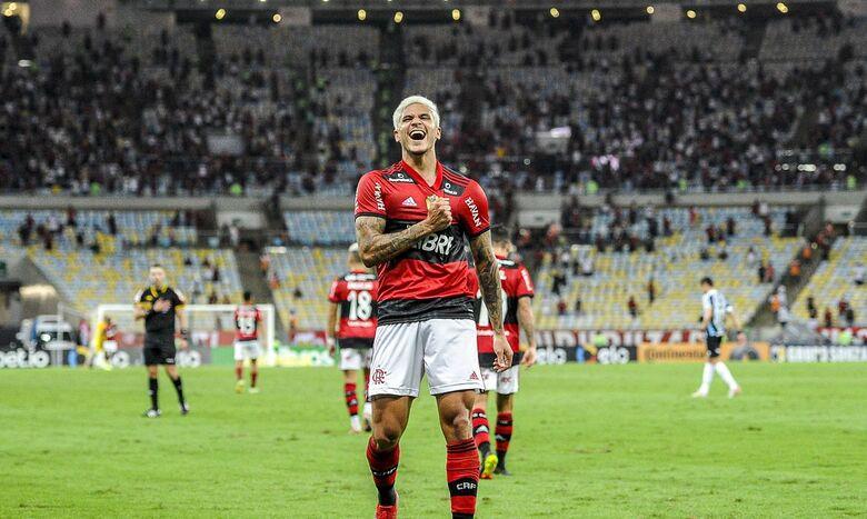 Com dois de Pedro, Flamengo derrota Grêmio e avança na Copa do Brasil - Crédito: Marcelo Cortes / Flamengo