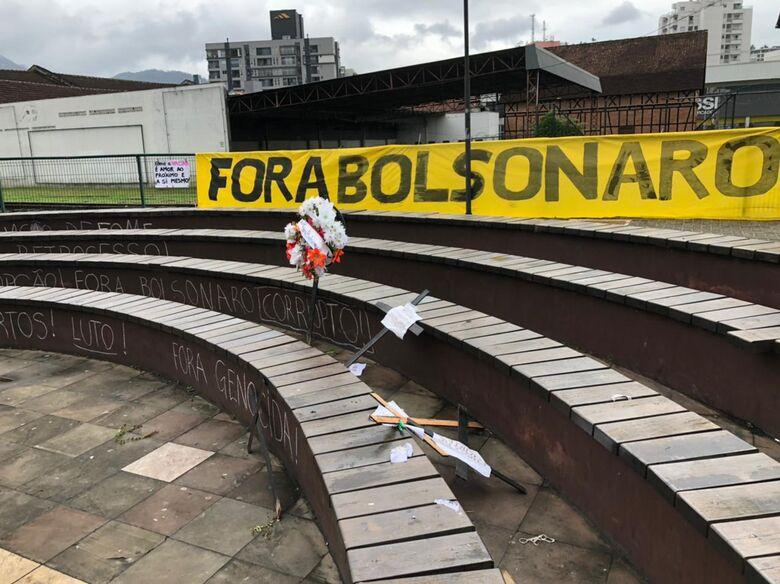 Jaraguá tem manifesto contra governo - Crédito: Ricardo Rabuske