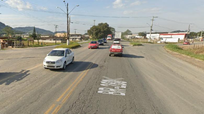 Acesso da BR-280 aos bairros Avaí e Guaramiranga será fechado - Crédito: Arquivo / Divulgação