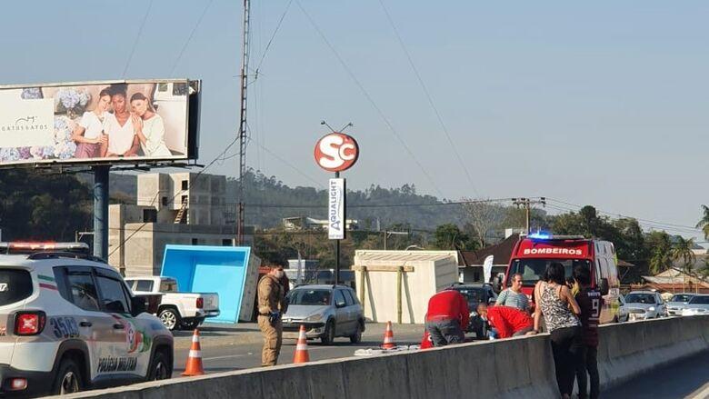 Atropelamento é registrado na BR-280 em Guaramirim  - Crédito: Carol Roling