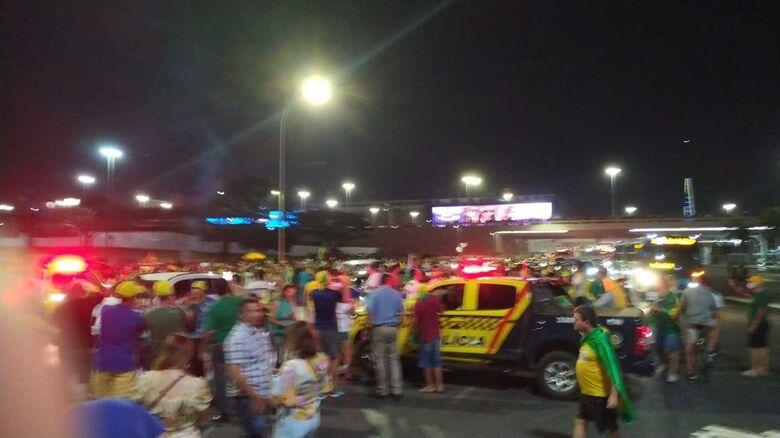 [VÍDEO] Manifestantes já se reúnem em Brasília - Crédito: Divulgação
