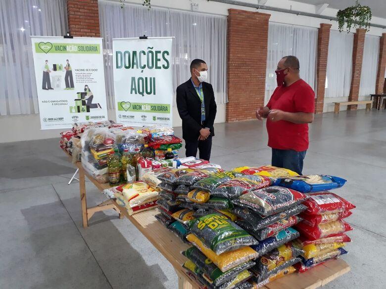 Duas entidades recebem alimentos da VacinAção Solidária - Crédito: Divulgação