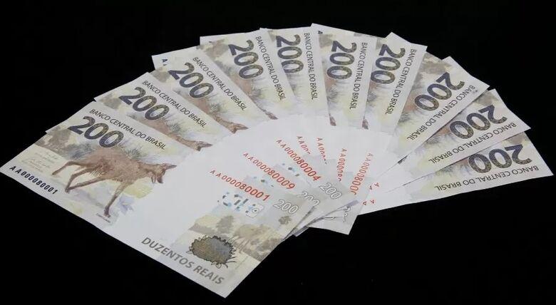 Cédulas de R$ 200 completam um ano em circulação - Crédito: Divulgação/Banco Central