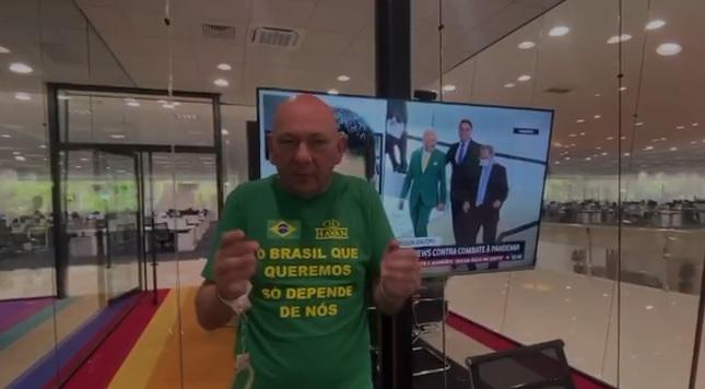 Hang grava vídeo algemado antes de prestar depoimento na CPI da Covid - Crédito: Arquivo / Divulgação