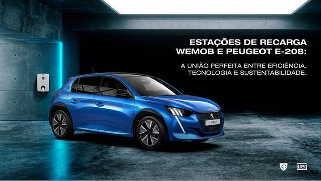 WEG anuncia parceria com a Peugeot para venda de estações de recarga para veículos elétricos - Crédito: Divulgação