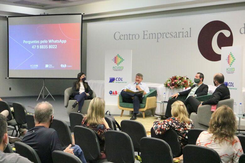 Lunelli participa de painel na Acijs sobre parceria público-privada - Crédito: Divulgação