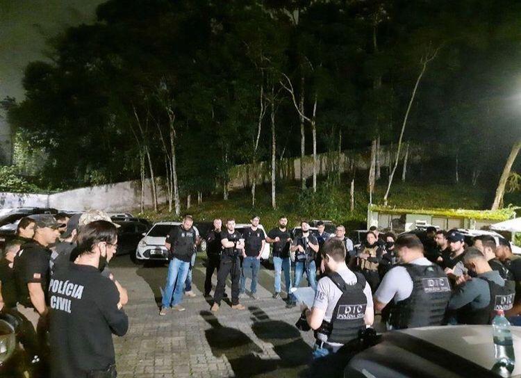 Polícia Civil prende ladrões de banco em Joinville - Crédito: Divulgação Polícia Civil