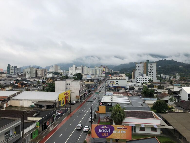 Jaraguá registrou 44 milímetros de chuva em três dias - Crédito: Ricardo Rabuske