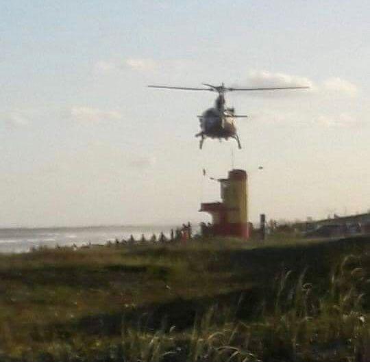 Bombeiros iniciam o terceiro dia de buscas por jaraguaense desaparecido na praia do Ervino - Crédito: Divulgação Redes Sociais