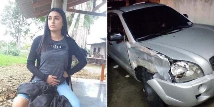 """Motorista que matou jovem prensada contra caminhão em Itajaí diz que acidente """"foi sem querer"""" - Crédito: Arquivo pessoal/Polícia Militar/NSC."""