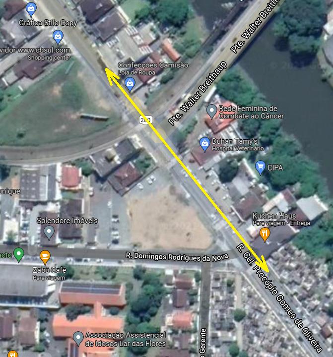 Interdição parcial da Rua Coronel Procópio Gomes de Oliveira - Crédito: Divulgação