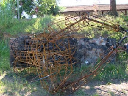 Fogo destruiu mascote da Schützenfest