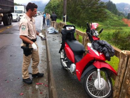 Motociclista morre em acidente na BR-280 em Guaramirim