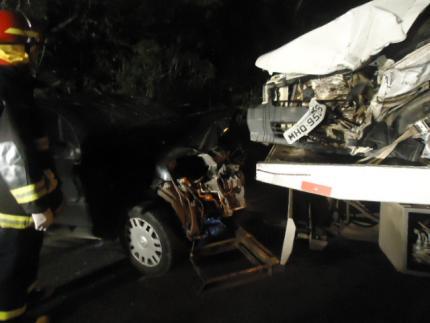 Três ficam feridos em colisão na SC 413, em Guaramirim