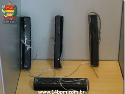 PM localiza equipamentos para furto em caixa eletrônico