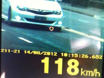 PM faz alerta sobre excesso de velocidade