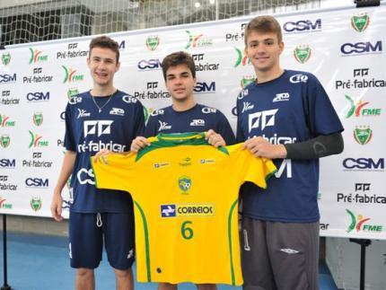 Três jogadores da CSM são pré-convocados para Seleção
